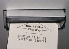 Inserimento del biglietto Immagini Stock