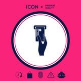 Inserimento dell'icona della carta di credito Fotografia Stock