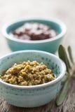 Inserimento verde oliva Fotografia Stock
