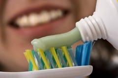 inserisca il toothbrush Immagine Stock Libera da Diritti