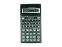Inserito il calcolatore scientifico su fondo bianco Fotografia Stock Libera da Diritti