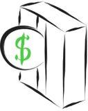 Insert coin. In slot vector symbol illustration vector illustration