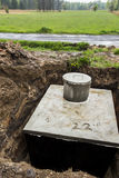 Insert concrete septic septic tank Stock Photos