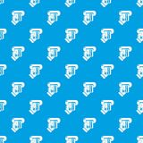 Inserting credit card pattern vector seamless blue. Repeat for any use Stock Photography