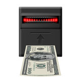 Inserting money Stock Image