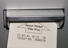 Inserting ticket stock images