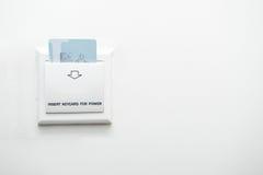 Insertion de Keycard au contrôle de commutateur électrique Photos stock