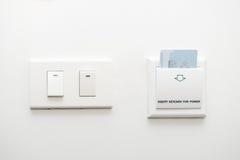 Insertion de Keycard au contrôle de commutateur électrique Image libre de droits