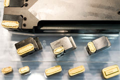 Inserts lathe tool Royalty Free Stock Images