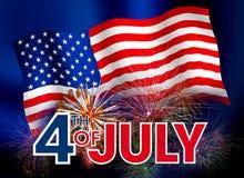 Inseto abstrato com informação do 4 de julho Imagens de Stock Royalty Free