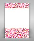 Inseto com design floral Imagens de Stock Royalty Free