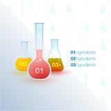 Inseto com tubos de ensaio e fórmulas Foto de Stock Royalty Free