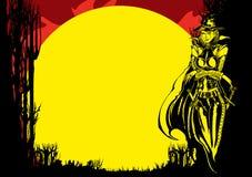 Inseto de Dia das Bruxas com bruxa ilustração stock