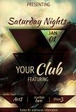 Inseto do clube noturno do projeto do triângulo Imagem de Stock Royalty Free