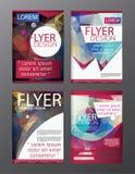 Inseto do folheto do polígono, projeto do molde do folheto da capa de revista Fotos de Stock