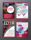 Inseto do folheto do polígono, projeto do molde do folheto da capa de revista Fotos de Stock Royalty Free