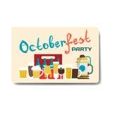 Inseto do partido de Octoberfest Ainda vida de canecas de cerveja, garrafas Imagem de Stock Royalty Free