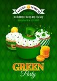 Inseto do Partido Verde Cartão de convite para o dia de St Patrick da celebração Fotografia de Stock