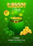 Inseto do Partido Verde Cartão de convite para o dia de St Patrick da celebração Foto de Stock Royalty Free