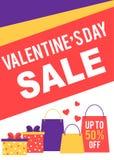 Inseto e cartaz da venda do dia do ` s do Valentim Fotografia de Stock