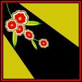 Inseto floral retro ilustração royalty free