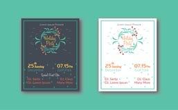 Inseto original da festa natalícia da flor com disposição de 2 alternativas Imagens de Stock