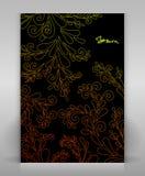 Inseto preto com decoração floral Fotos de Stock