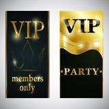 Inseto superior do cartaz do cartão do convite do partido do clube do VIP Imagens de Stock Royalty Free