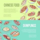 Insetos chineses do alimento com pratos asiáticos ilustração stock