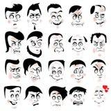 Insetos com caras engraçadas fotografia de stock