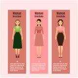 Insetos de DressCode da mulher ajustados Imagem de Stock Royalty Free