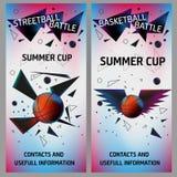 Insetos do basquetebol e do streetball foto de stock royalty free