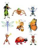 Insetos dos desenhos animados Ilustração Stock
