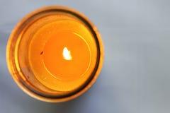 Insetto nella candela fotografia stock