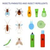 Insetto-parassiti e cose repellenti di insetto Fotografie Stock Libere da Diritti