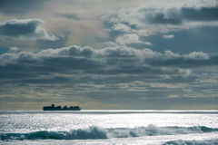 Inshore Freighter Stock Image