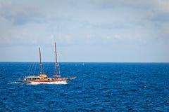 Inshore sailing ship in Sliema (Malta) Stock Photo
