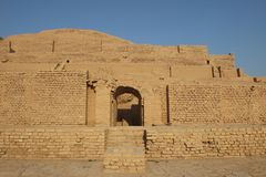 Inshushinak上帝寺庙在Chogha Zanbil,伊朗 图库摄影