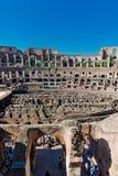 Insida av Colosseum i Rome, Italien Arkivbilder