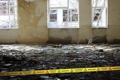 Insida av den öde skolan i den Tjernobyl zonen ukraine Royaltyfri Foto