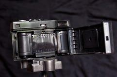 Insida av den gamla filmkameran som göras i USSR royaltyfri foto