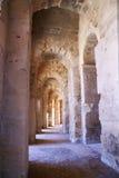 Insida av en amphitheater Royaltyfria Bilder