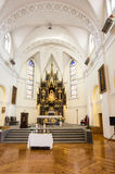 Insida av en kyrka Royaltyfri Foto