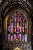 Insida av Treenighetkyrkan som lokaliseras på Wall Street och Broadway, mor Royaltyfria Bilder