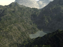 Insida mellan de steniga bergen Royaltyfria Foton