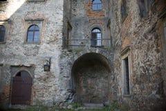 Insida slottet Arkivfoto