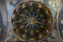Insidan av den Chora kyrkan i Istanbul, Turkiet royaltyfria bilder