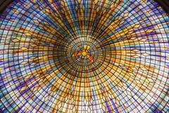 Insidan av kupolen av basilikan av vår dam av fred fotografering för bildbyråer
