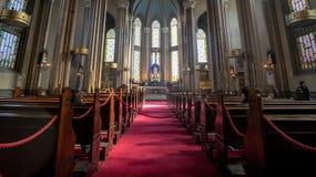 Inside świętego Antoine kościół w Taksim, Istanbuł zdjęcie stock