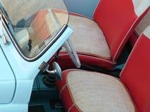 Inside 500 spider. Inside of a 60s Fiat 500 spider stock images